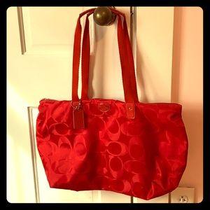 Coach Red Nylon bag